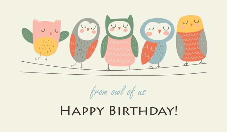 Send This FREE Happy Birthday From Owl Of Us ECard To A Friend Or Family Member
