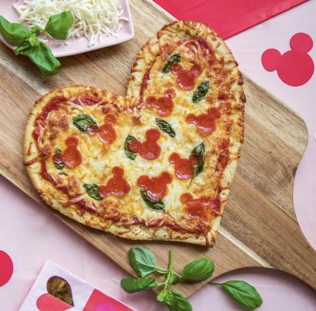 Disney Food a Mickey pizza for pizza night!
