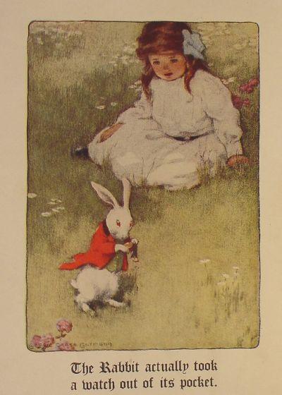 Bessie Pease Gutmann (American,1876–1960), Alice in Wonderland, 1907