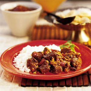 When Nancy Sephton lived in South Africa in the '50s, lamb curry was as ubiquitous there as hamburgers and hot dogs are in the United States. On a return visit a number of years later, she came across the curry made with beef, which has become a favorite with her family.
