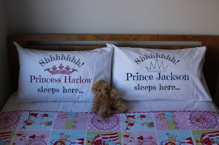 Custom printed pillowcases