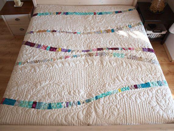 Queen Größe Quilt Kunst Quilt moderne Quilt hausgemachten
