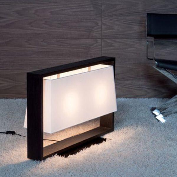 Nella vetrina frame contardi fl miss table lamp in dark brown oak