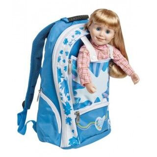 Backpack: This girl-sized backpack has been designed specially to carry your Maplelea Girl and lots of accessories. In addition to the doll pocket, there are pockets on the outside and inside, including special ones designed for the Maplelea Journal and Brush. Made of very durable fabric and construction methods.