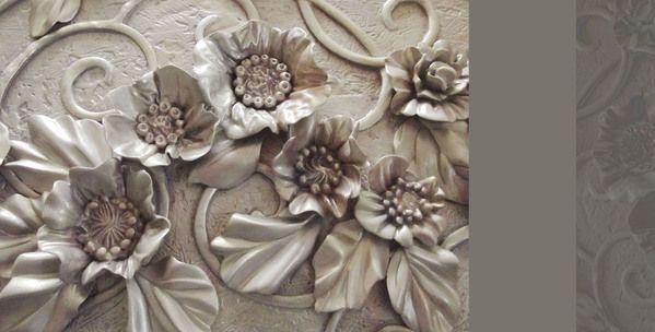 flowers panno by Zoya Olefir, via Behance