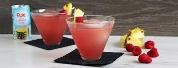 pineapple-raspberry bellini