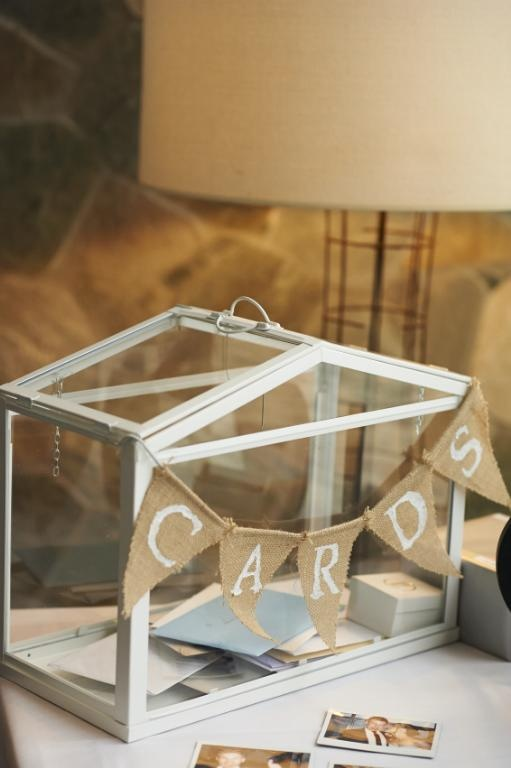 Ikea Terrarium As Wishing Well Wedding Reception Decorations In