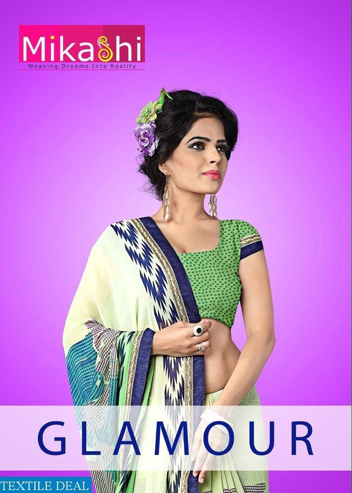 Give Yourself a Glamorous Look with this Gorgeous Mikashi Glamour Wholesale #PrintedSarees