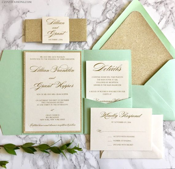 Best 25 Mint wedding invitations ideas on Pinterest Wedding