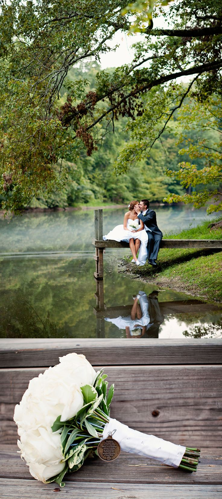 not sure i like the bottom section, i would just love the picture of them on the dock with the reflection! i find the bottom a bit distracting, personally, but gorgeous photo otherwise