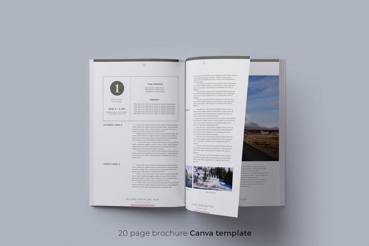 canva brochure template travel agency guide itinerary nel 2020