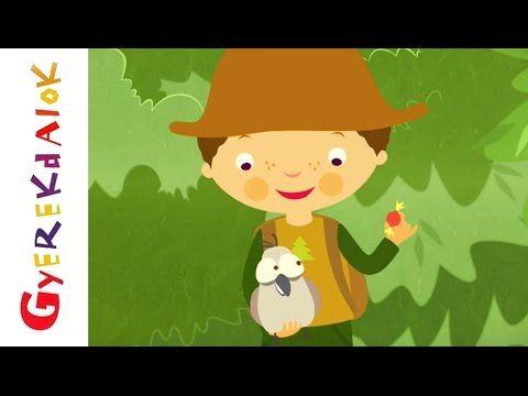 Erdő, erdő, erdő (gyerekdal, rajzfilm gyerekeknek) - YouTube