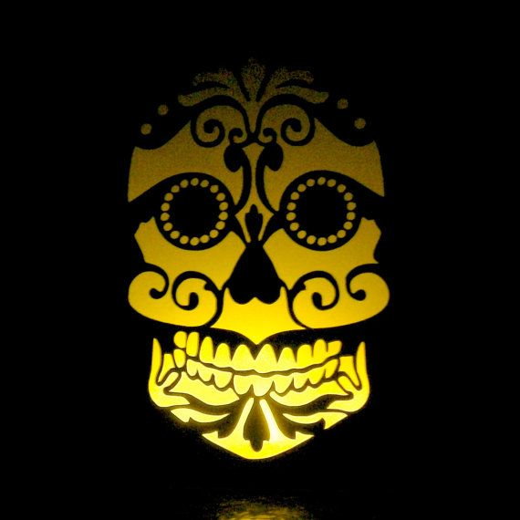 Sugar Skull Luminaries Day of the Dead Wedding Home Decor ...