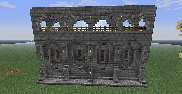 Minecraft Castle Wall Exterior