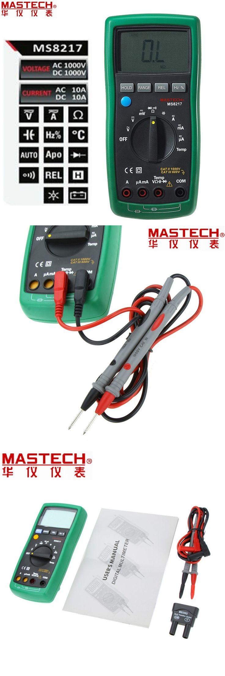 1pcs MASTECH MS8217 Digital Multimeter Meter AC/DC Voltage Current Resistance Capacitance Tester with Temperature Measurement