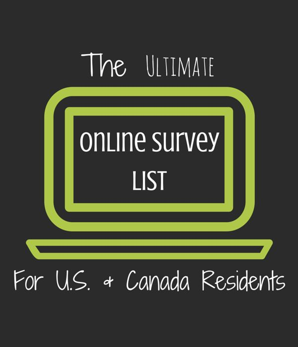The Ultimate #OnlineSurvey List For US and Canada Residents