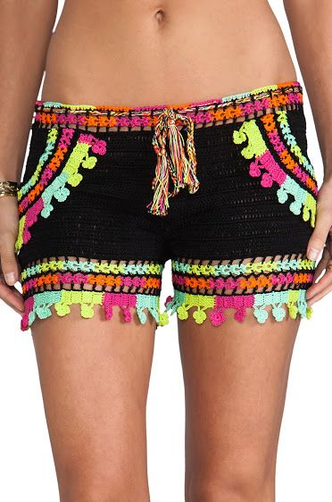 Cute swimsuit shorts. Outstanding Crochet: Astral Nomad Shorts from Anna Kosturova.