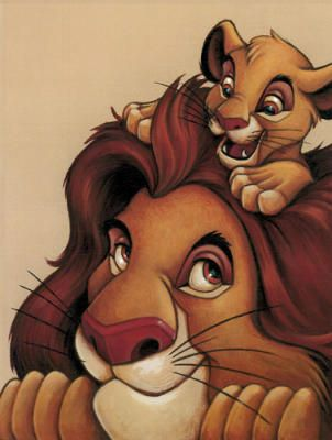 Simba and Mufasa - My Father, My Friend Art Print
