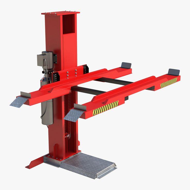 Single Post Car Lift 3D Model - 3D Model