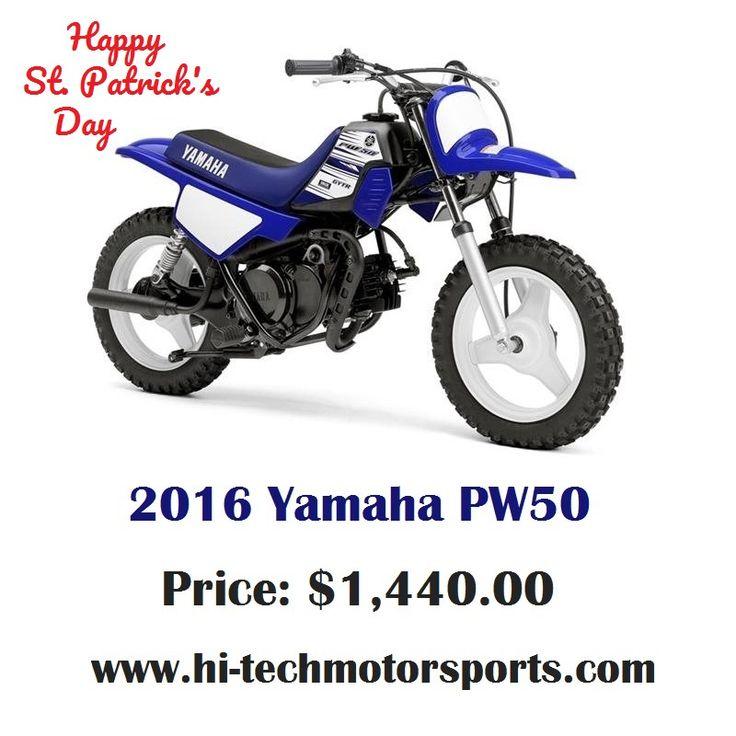 Happy St. Patrick's Day! :)  We present 2016 Yamaha PW50  Base: $1,440  Engine: Reed-valve inducted, 2-stroke, 49cc  For more information, Visit: http://www.hi-techmotorsports.com/Motorcycles-Yamaha-PW50-2016-Billings-MT-5dc4dbc2-8e20-41db-8398-a6100055d9c1  #YamahaPW50 #PW50 #Yamaha #Bike #MotorBike #HiTechMotorSports #ShopOnline #BestPrice
