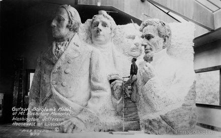 Borglum's studio at Mt. Rushmore