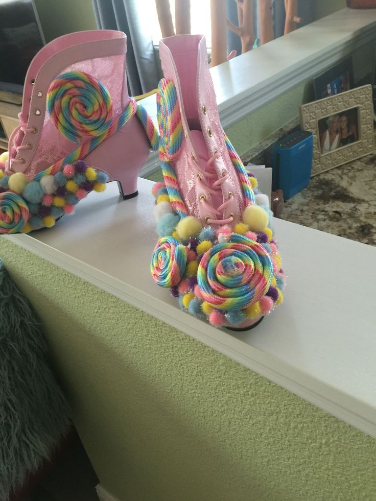 Candy themed shoes