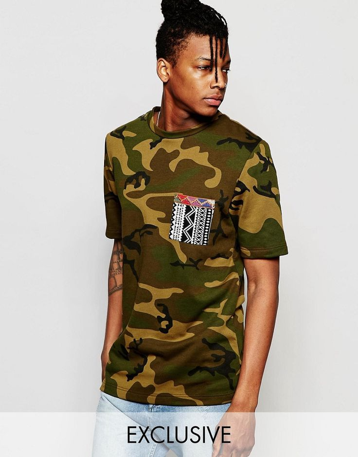 The New County Camo T-Shirt With Aztec Pocket