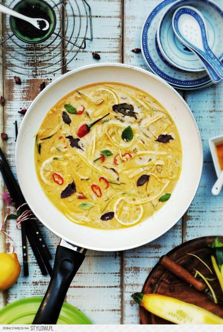 Zupa kokosowa z cukinią i cytryną | gotuj zdrowo!  Prze…