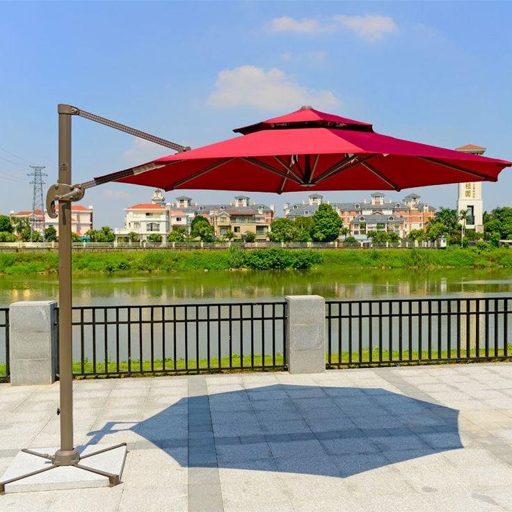 factory direct circular double top outdoor umbrellas sun umbrella roman shade umbrella advertising umbrella patio umbrella