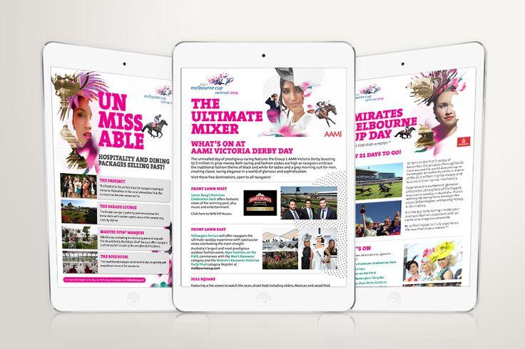 Melbourne Cup Carnival, eDM design – Advertising Associates