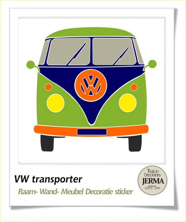 Decoratie sticker: Volkswagen transporter decoratie sticker Auto VW ...