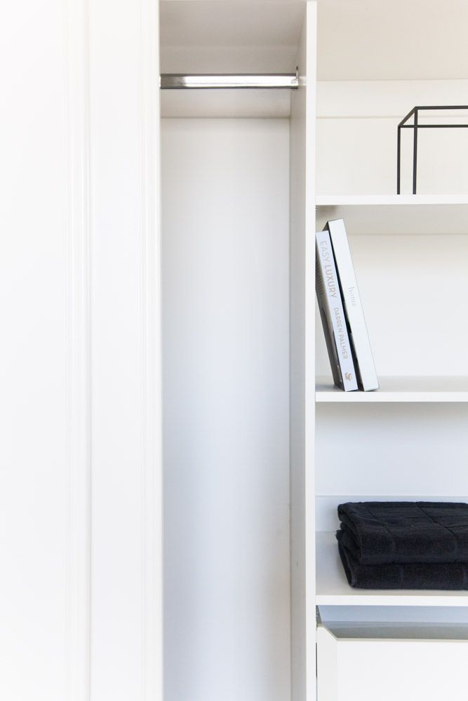 Home Sweet Home - Shepperd Building. Shepperd Building Company. Custom made robe shelving in bedrooms include drawers for additional storage as standard in our homes.