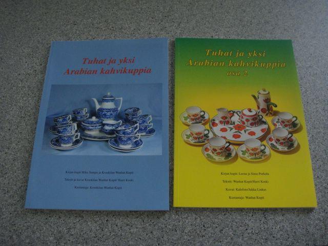 Tuhat ja yksi Arabian kahvikuppia kirja, osat 1+2; vanhatkupit.fi / yhteensä 39€