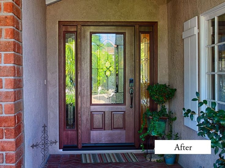 Classic Entry Door With 2 Side Lights Therma Tru Fiber