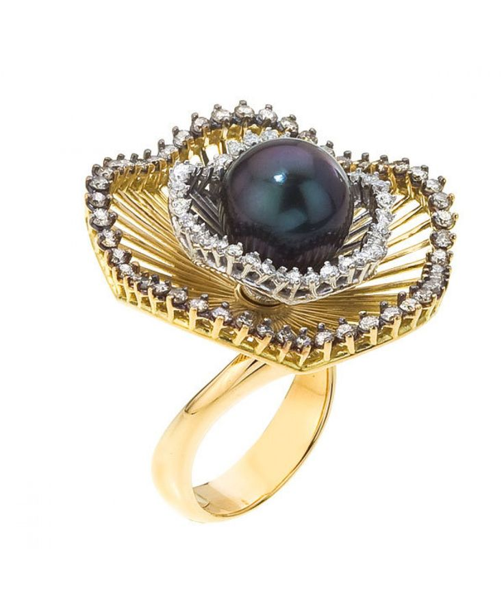 18kt Gold Sistina Flower Small Ring - Cocktail - Rings - Jewellery & Gifts