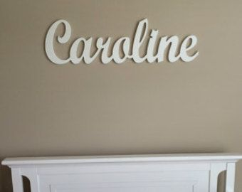 Name Plaque Wooden Name for Kids or Baby Room Decor-Kids