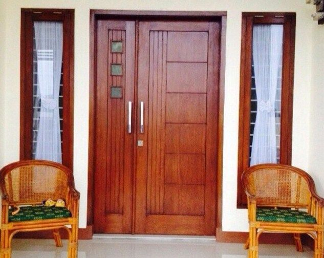 31 model daun pintu kupu tarung kayu jati minimalis