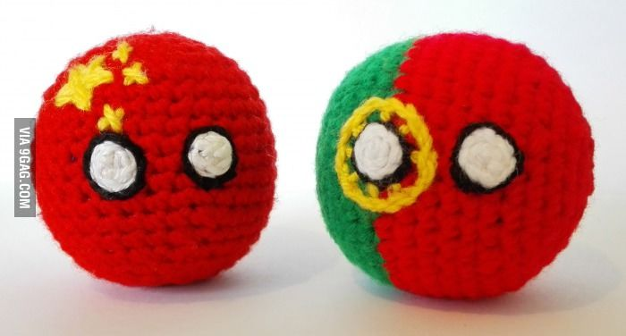 Our new handmade countryballs are here: #Chinaball and #Portugalball