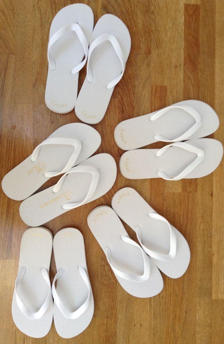 9 best Personalised Flip Flops images on Pinterest   Wedding flip ...