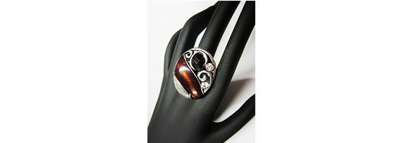 Brown Stretchy Statement Ring