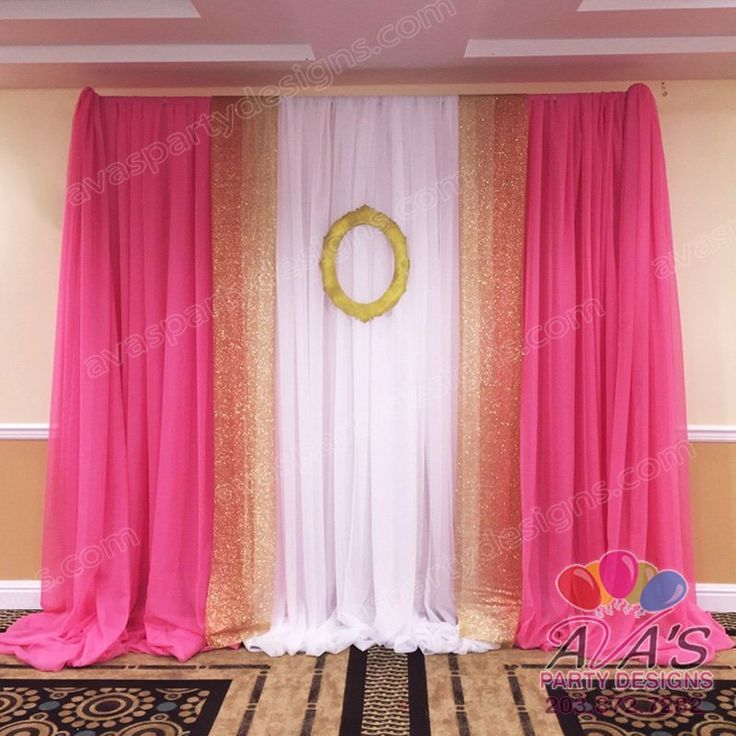 Pink And Gold Party Focal Point