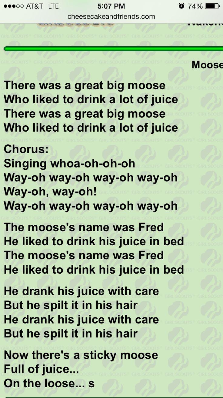 The Moose Song Lyrics - YouTube