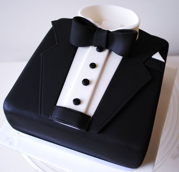 Miss Cupcakes» Blog Archive » Mens Tuxedo celebration cake
