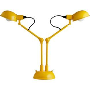 Buy Habitat Tommy 2 Head Desk Lamp - Yellow at Argos.co.uk - Your Online Shop for Table lamps.