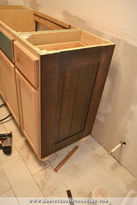 Bathroom Vanity Trim Wainscoting Progress And Painted