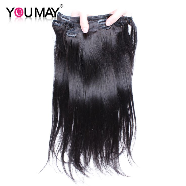 Remy Virgin Malaysian Hair Clip In Extensions 120G Clip In Malaysian Hair Extensions 1B Black Clip In Human Hair Extensions