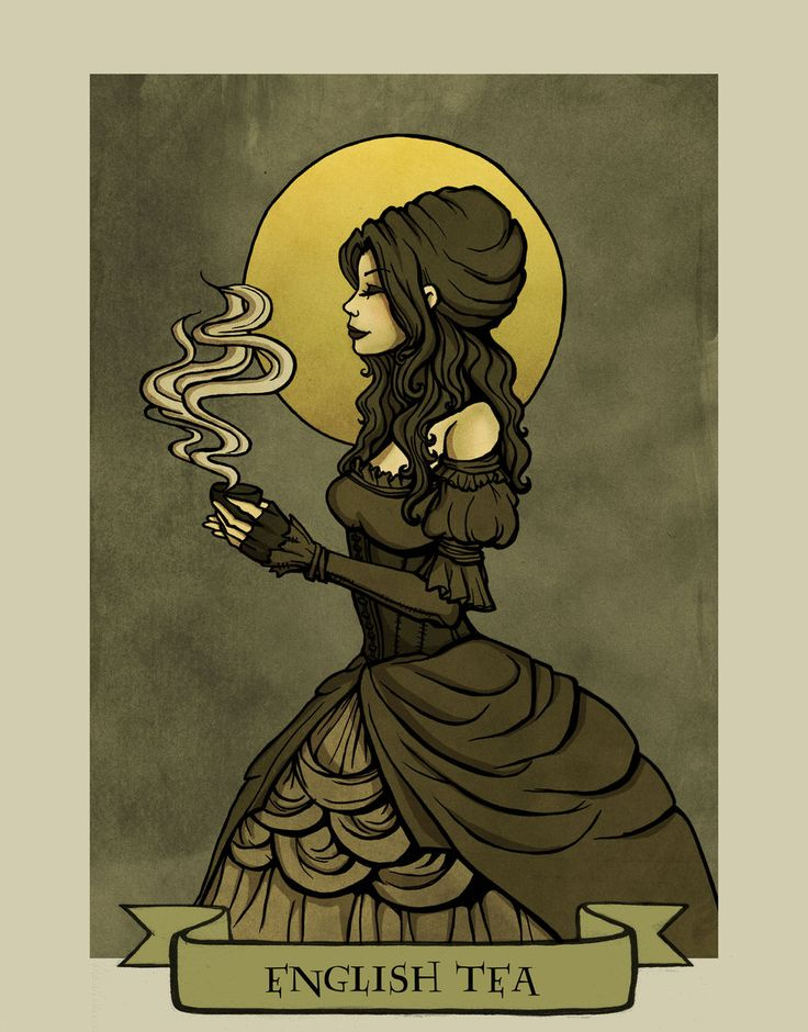 English tea by Evanira.deviantart.com on @deviantART. This woman has a series of these that are just Beautiful.