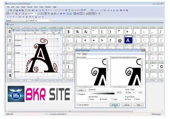 Free Download Font Creator v6.0 Professional