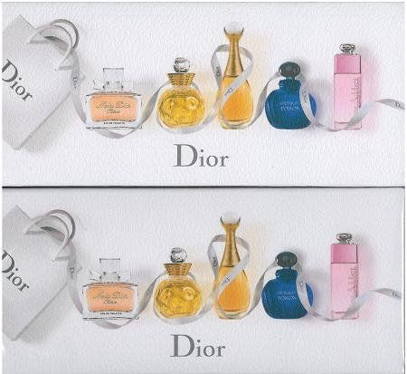 Christian Dior Gift Set 5Pcs. [Miss Dior Cherie,Dolce Vita,Jadore,Pure Poison And Dior Adict2] Women by Dior. $105.99. Miss Dior Cherie 5 ML. Dior Addict 2 Eau de Toilette Spray 5 ML. Dolce Vita 5 ML Eau de Toilette Spray. Jadore 5 ML Eau de Parfum Spray. Pure Poison 5 ML Eau de Parfum Spray. Dior 5 Pcs Mini Set By Christian Dior Includes Miss Dior Cherie 5 Ml, Dolce Vita 5 Ml Edt, Jadore 5 Ml Edp, Pure Poison 5 Ml Edp, Dior Addict 2 EDT 5 Ml- Great Gift Item!!