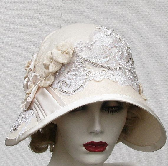 Couture Edwardian Hat Vintage Style Wide Brimmed Summer by BuyGail, $235.00